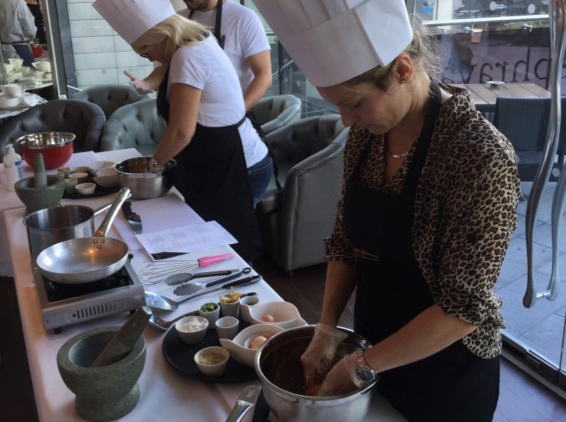 Eat with Ellen making thai fishcakes at Chaophraya, Birmingham