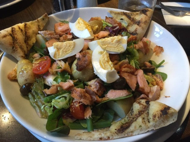 Salmon Nicoise salad at Prezzo, Rugby