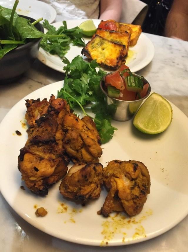 Chicken tikka and paneer tikka at Dishoom