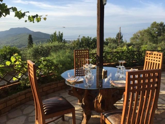 The terrace at Archontiko, Corfu