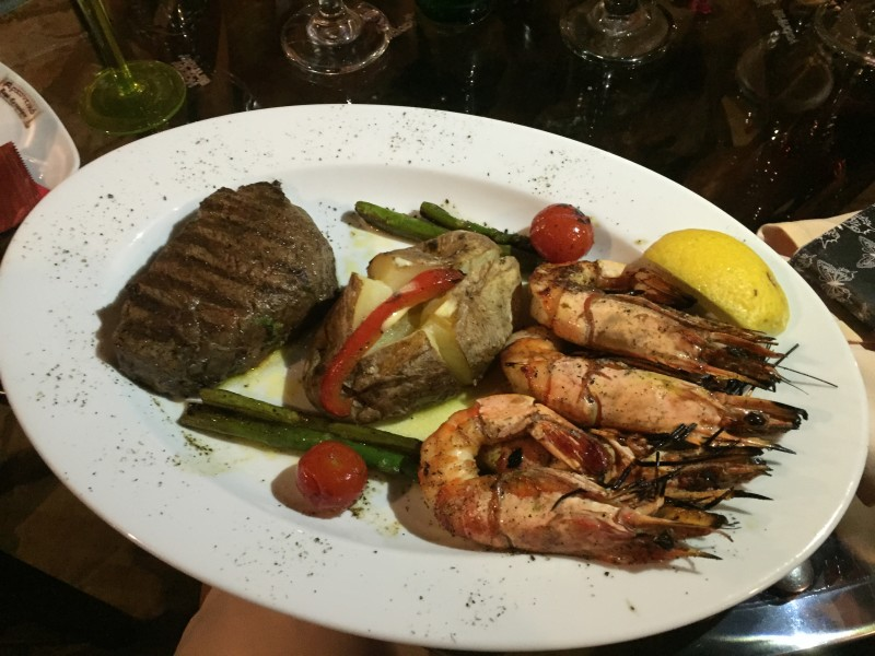 Surf and turf at Archontiko, Corfu
