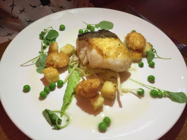Pan-fried cod at the Rose and Crown., Warwick