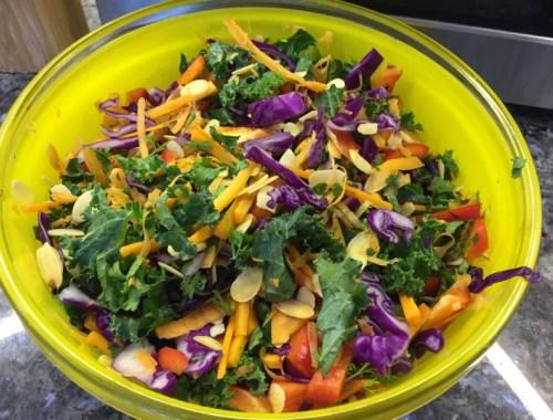 Asian kale salad