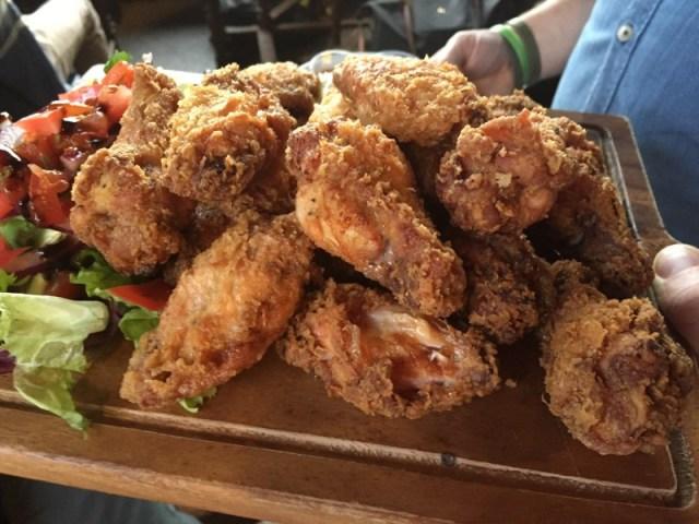 Chicken wings at the Rose Villa Tavern
