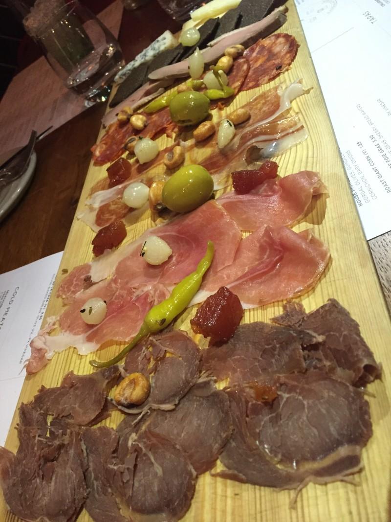 Meat platter at Pintura, Leeds