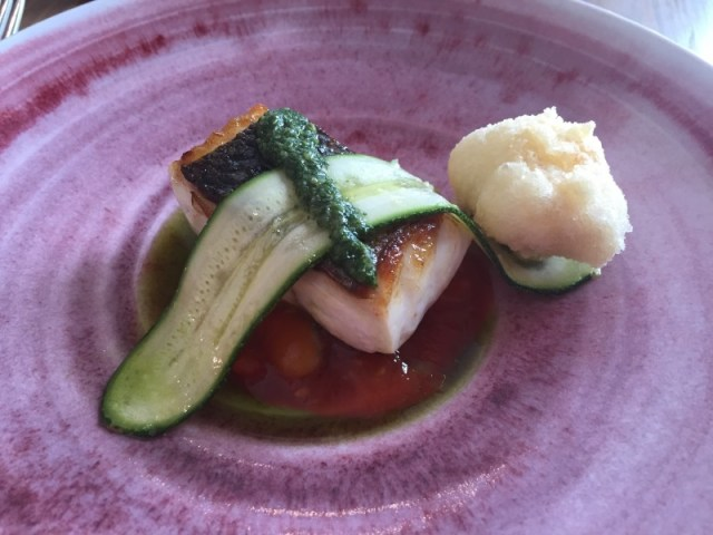 Smoked bass at Restaurant Nathan Outlaw