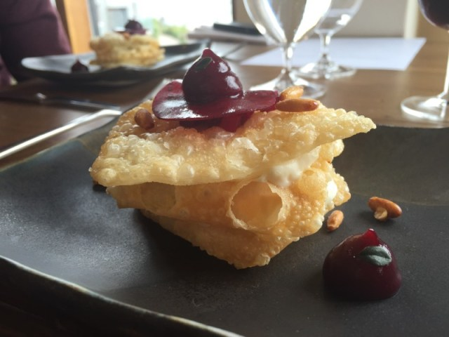 Cheese course at Restaurant Nathan Outlaw