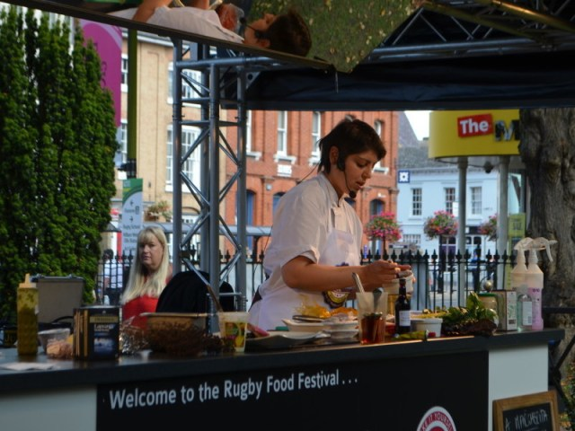 Kitchen demo at Rugby food fair