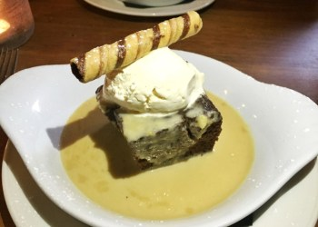 Ginger treacle pudding at the Rose and Crown, Ratley