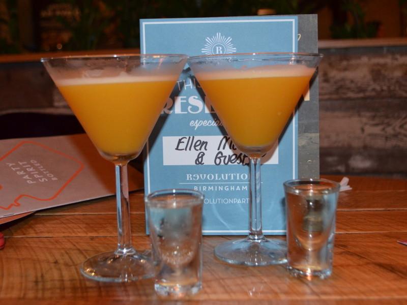 Cocktails at Revolution, Birmingham