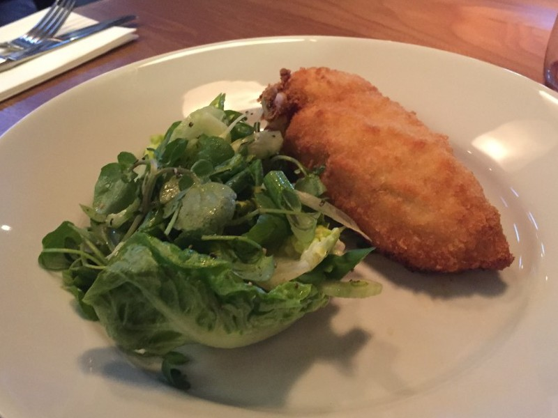 Chicken kiev at Purecraft Barn and Kitchen, Birmingham