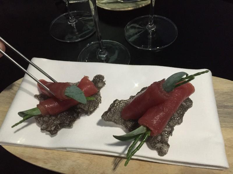 Tuna sashimi at Purnells