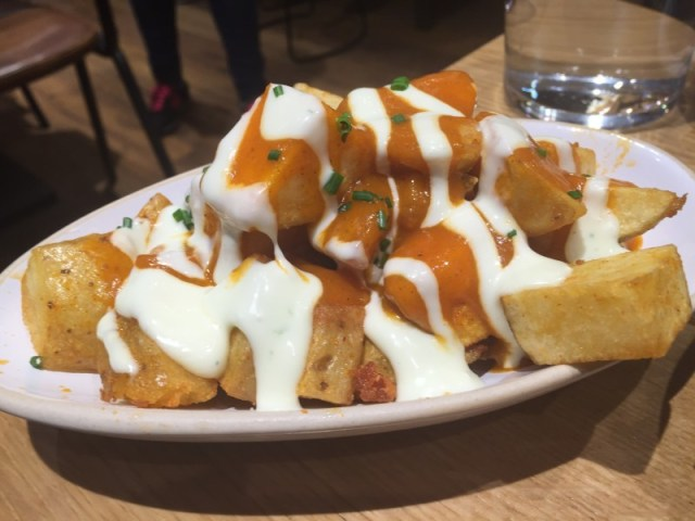 Patatas bravas at Tapas Revolution