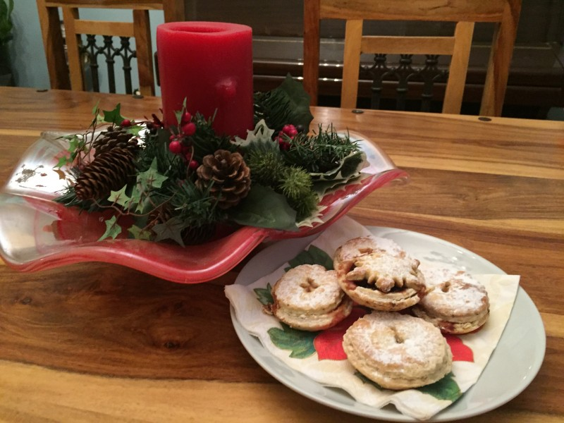Manning mince pies