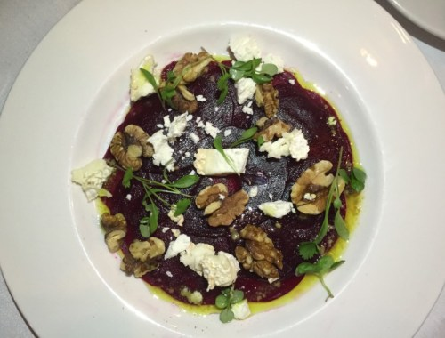 Beetroot salad at Marco's New York Italian