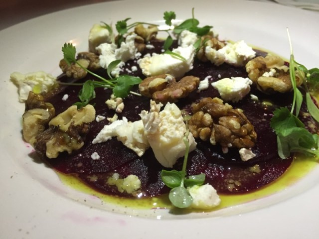 Beetroot and goats cheese salad at Marco's New York Italian