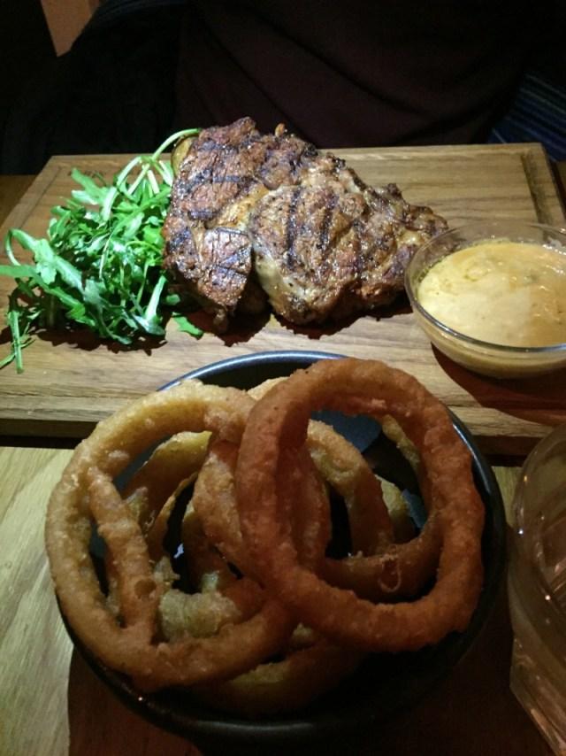 Rib-eye steak at the Star & Garter, Leamington Spa