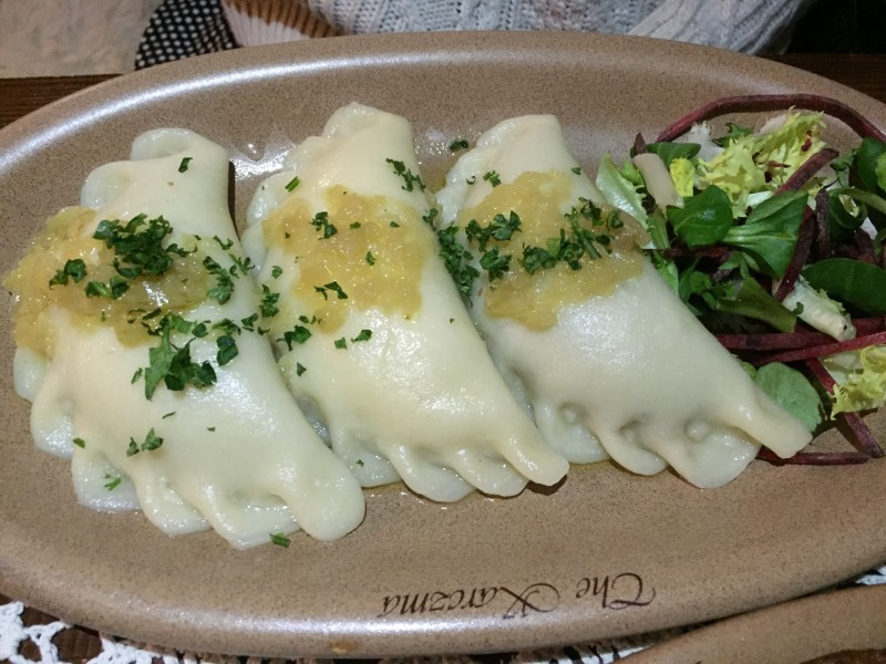 Pierogi at the Karczma, Birmingham