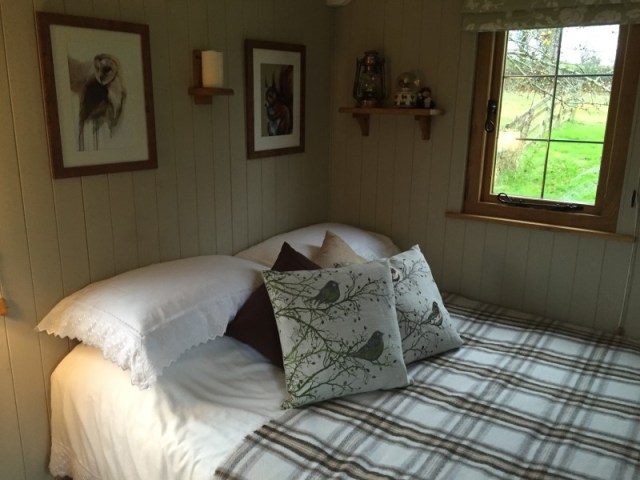 Interior pic of a shepherds hut