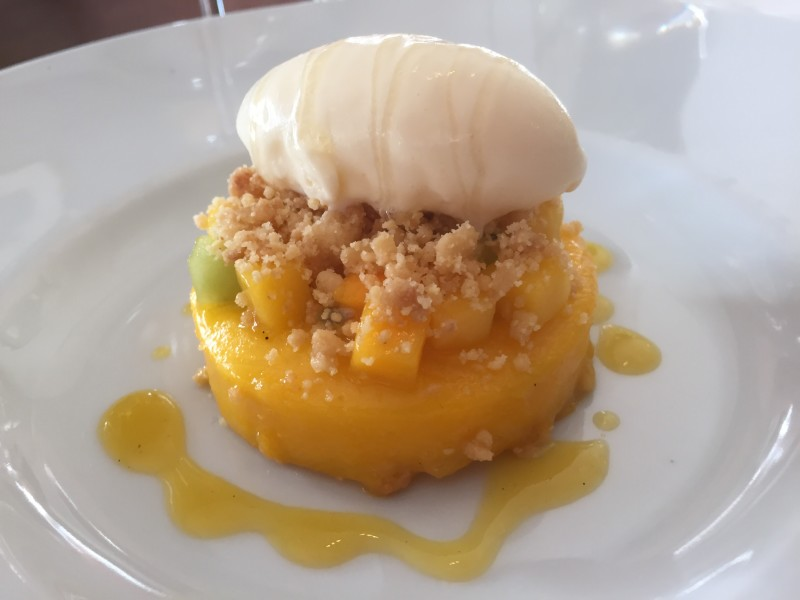 Mango crumble at The Cross, Kenilworth