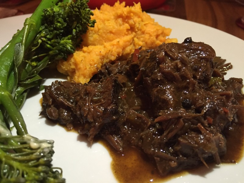 Slow-cooked ox cheek