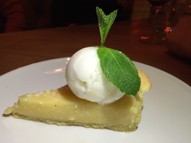 Lemon tart at Beefeater Bar + Block