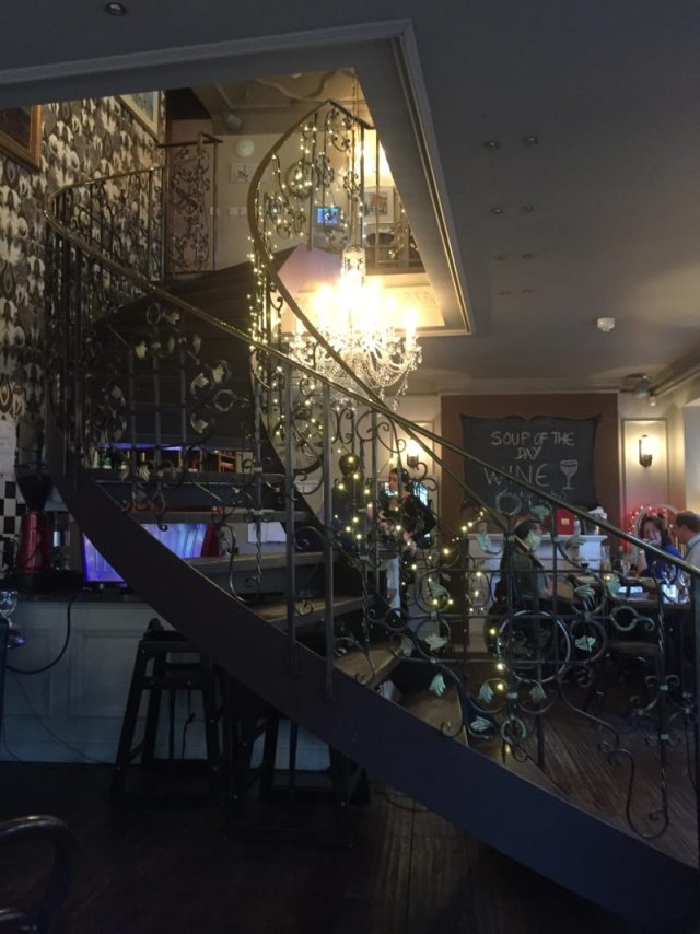 The interior of Cafe Vin Cinq, Rugby