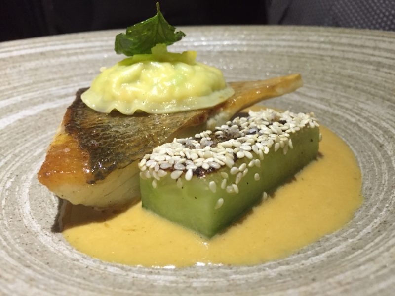 Fillet of sea bream at The Coach, Marlow