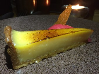 Lemon tart at The Coach, Marlow