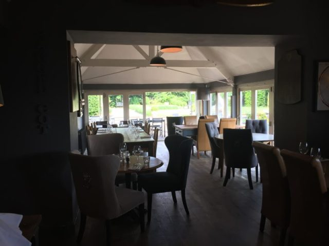 The restaurant at The Ragged Cot, Minchinhampton