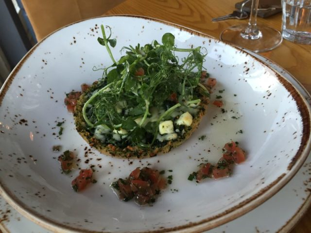 Goats cheese tart at The Ragged Cot, Minchinhampton