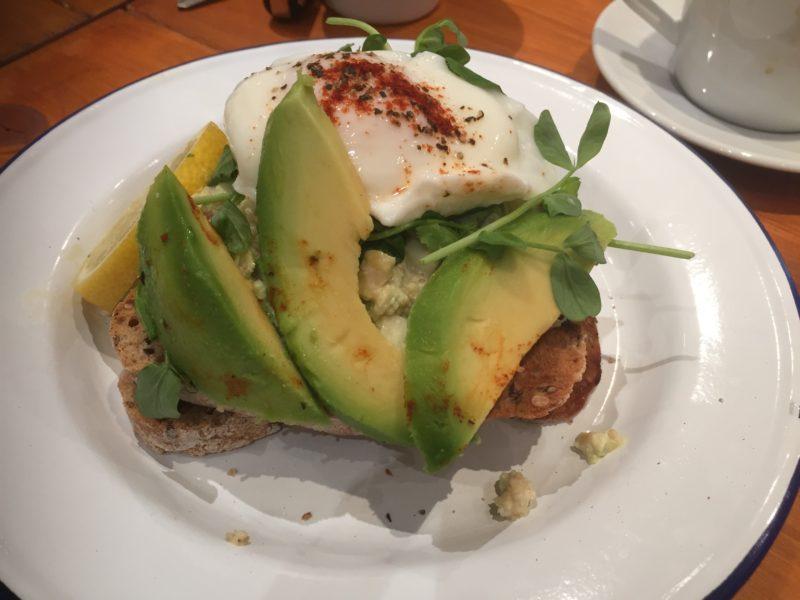 Avocado smash at Saint Kitchen, Birmingham