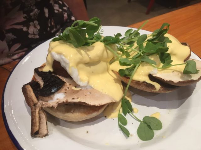 Eggs Benedict at Saint Kitchen, Birmingham