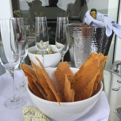 Champagne and canapes at Goodwood