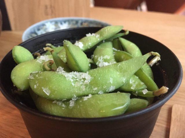 Edamame beans at Rofuto