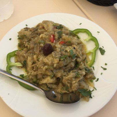 Aubergine dip at Ellis, Fiskardo