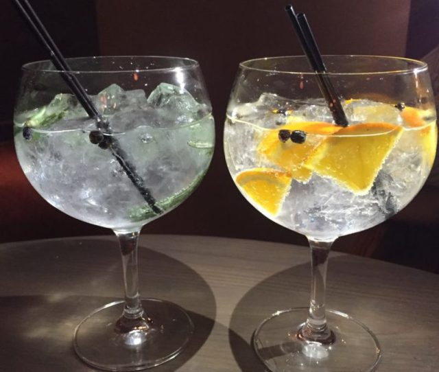 Grand gins at The Almanack, Kenilworth