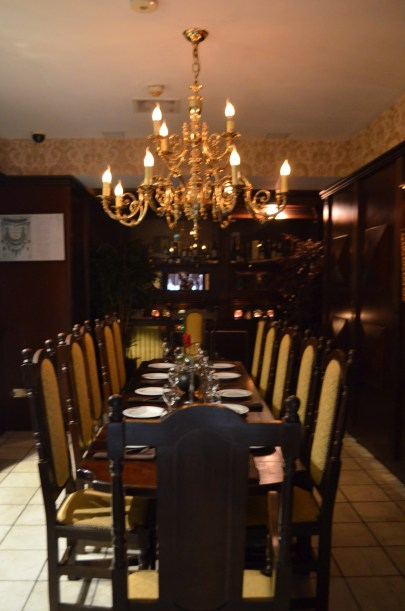 Private dining room at Itihaas, Birmingham