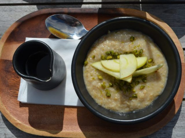 Almond milk porridge at the High Field, Birmingham