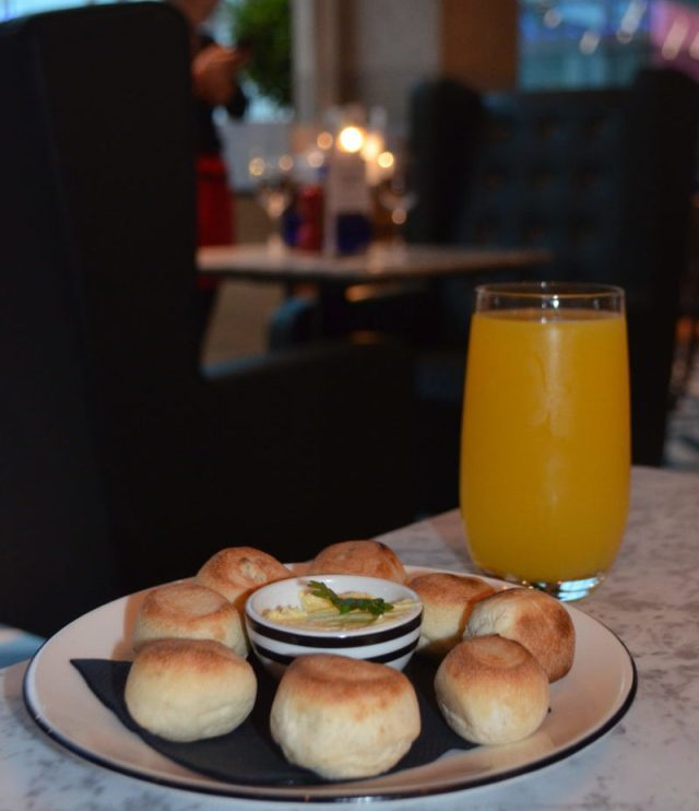 Dough Balls and passionfruit lemonade at Pizza Express