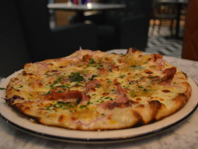 Hawaiian pizza at Pizza Express