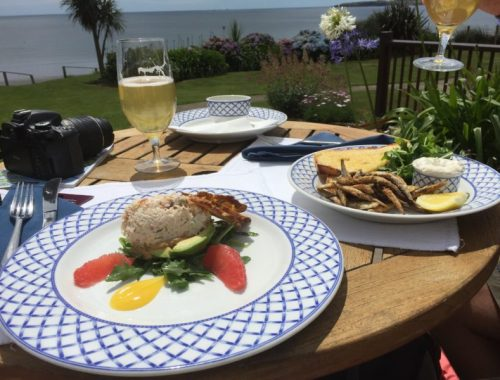 Lunch at The Quarterdeck at The Nare Hotel, Cornwall