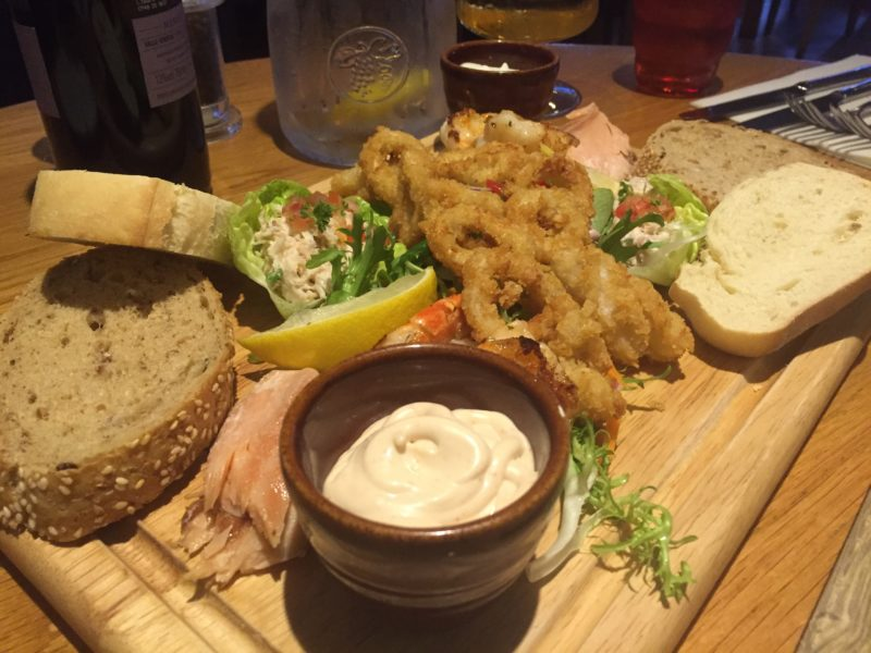 Seafood platter at Met Bar & Kitchen, Solihull