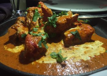 Butter chicken at Itihaas, Birmingham