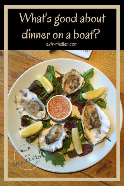 What's good about dinner on a boat?