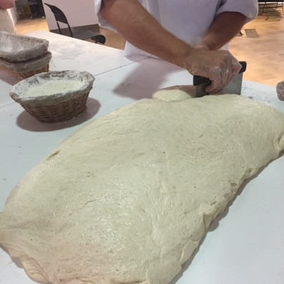 Learning to shape bread with Paul Bakery