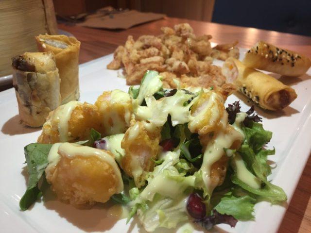 Fried starter platter at Chi Kitchen, Birmingham