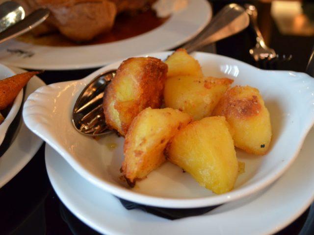 Roast potatoes at Malmaison, Birmingham