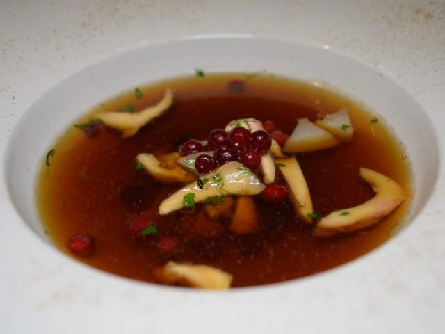 Wild Mushroom Broth at The Cross, Kenilworths Mushroom Evening