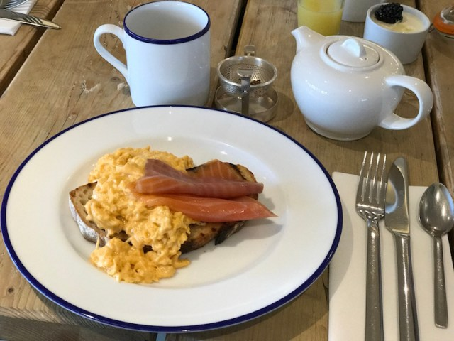 Breakfast at The Gallivant, Camber